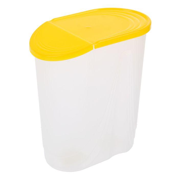 Емкость для сыпучих продуктов 2 л Wave, цвет жёлтый