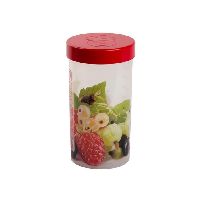 Емкость для хранения Oursson 1 л, 9,5 × 9,5 × 18 см, красная