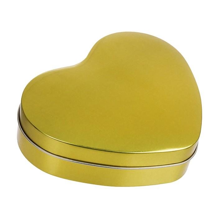 """Банка для сыпучих продуктов 16×13 см """"Золото. Сердце"""""""