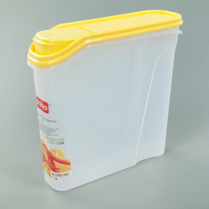 Емкость для сыпучих продуктов 2 л, цвет МИКС