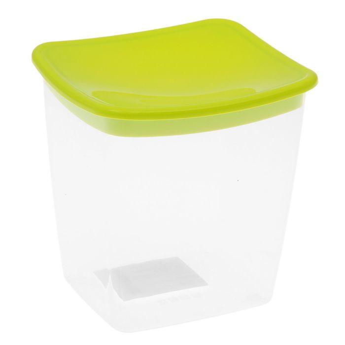 Ёмкость для сыпучих продуктов 1 л квадратная, цвет салатовый