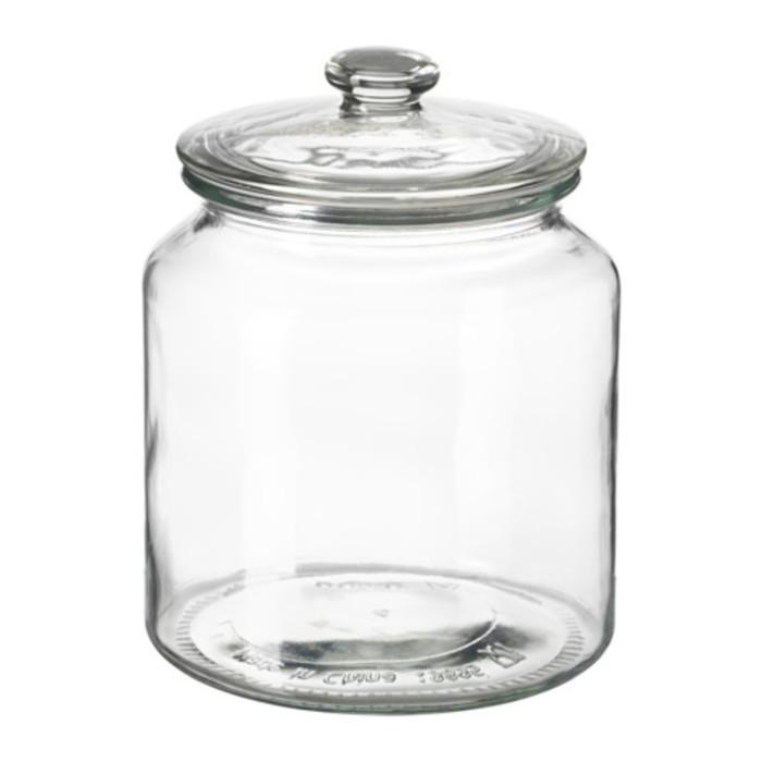 Банка с крышкой, прозрачное стекло ВАРДАГЕН, 1,9 л