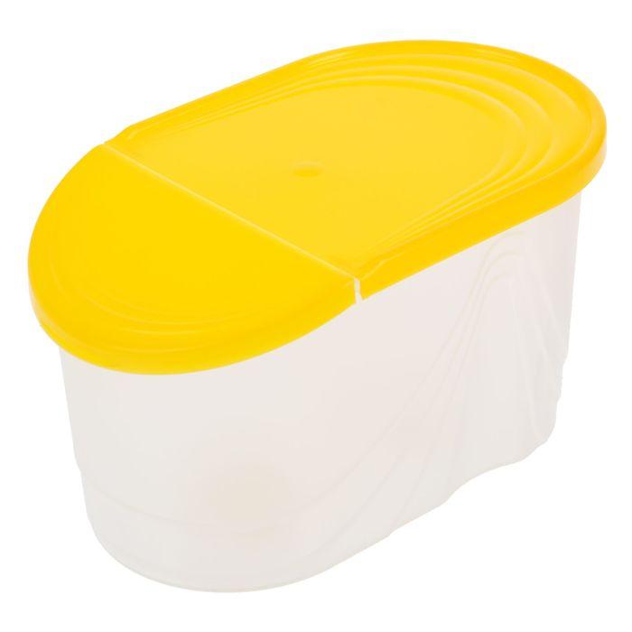 Емкость для сыпучих продуктов 1 л Wave, цвет жёлтый