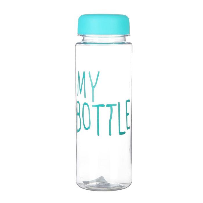 "Бутылка для воды ""My bottle"" с винтовой крышкой, 500 мл, синяя, 6.5х21 см"