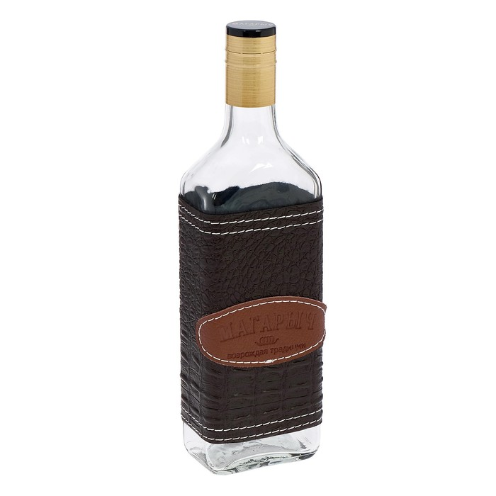 "Бутылка 500 мл ""Магарыч. Роса"", чехол коричневый"