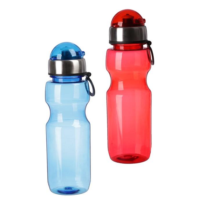 Бутылка для воды 780 мл, с соской и крышкой, микс, 6.5х24.5 см