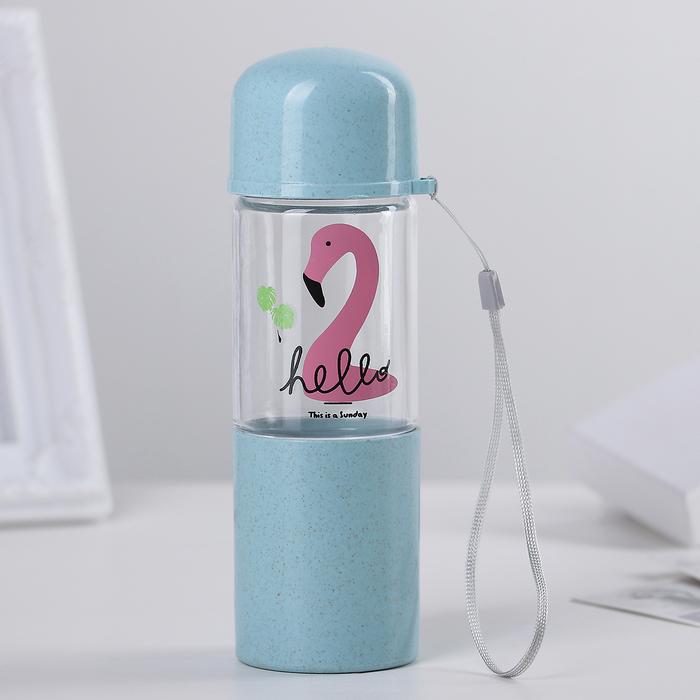 """Бутылка со стаканом 280 мл """"Фламинго"""""""