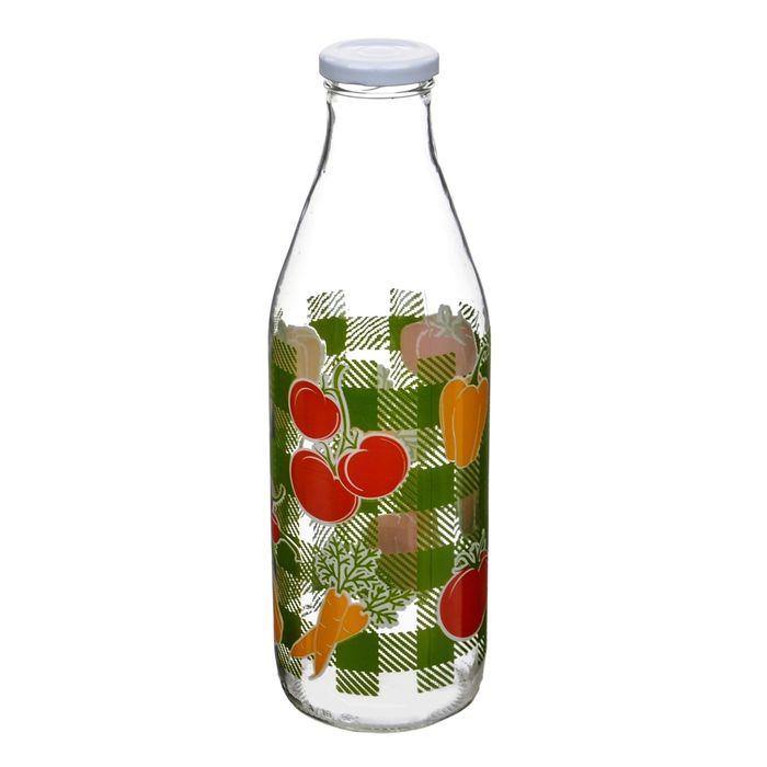 "Бутылка с крышкой ""Овощи"", 1 л"