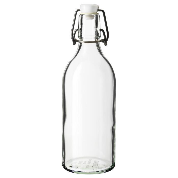 Бутылка с пробкой КОРКЕН, 0,5 л, прозрачное стекло