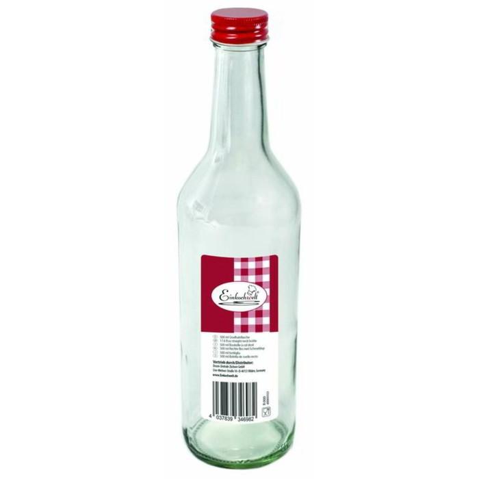 Бутылка «Dosen-Zentrale», 500 мл, с красной крышкой
