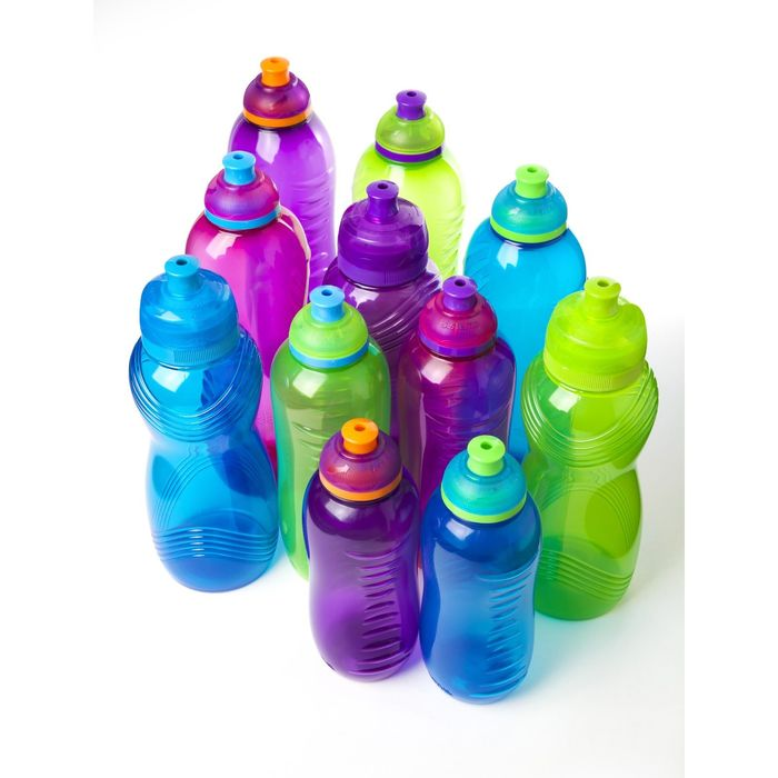 Бутылка для воды, 600 мл, микс