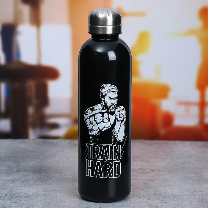 "Бутылка для воды ""Train hard"", 700 мл"