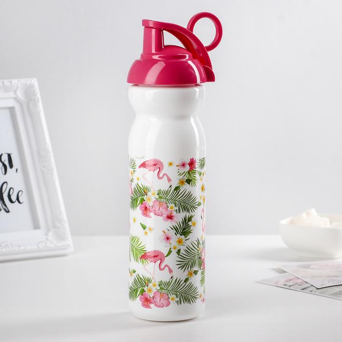 "Бутылка 680 мл ""Тропические фламинго"""