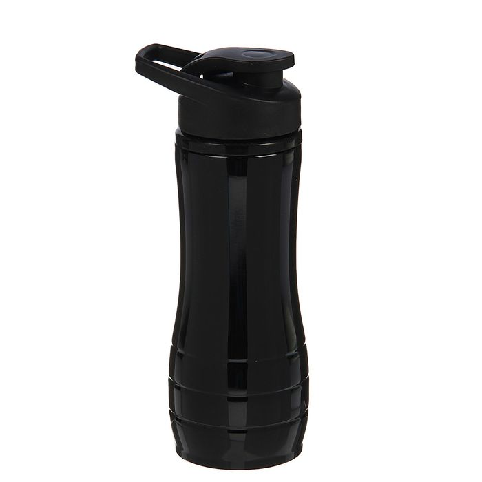 "Бутылка для воды ""Metallica"", 600 мл, спортивная, чёрная, 9х23 см"