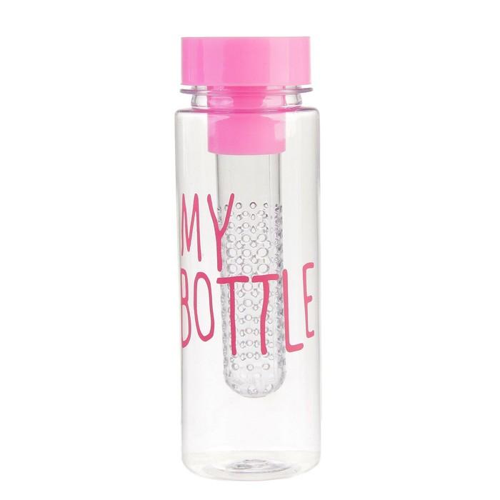 """Бутылка для воды """"My bottle"""", 420 мл, спортивная, микс, 6.5х19.5 см"""