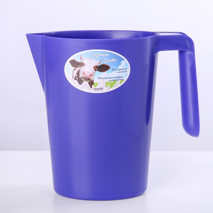 "Кувшин-подставка для молочного пакета ""Санти"", цвет лазурный"