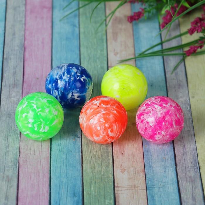 """Мяч каучуковый """"Пёстрый"""", 4,1 см, цвета МИКС"""