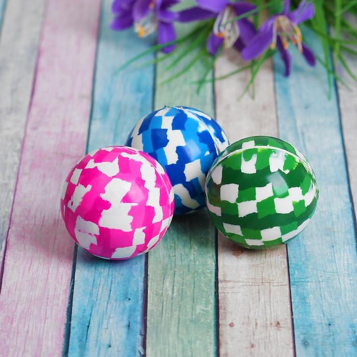 """Мяч каучук """"Цветной"""" 4 см, цвета МИКС"""