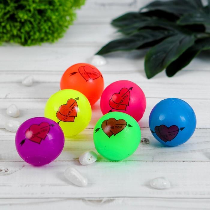 Мяч световой сердце и стрела, цвета МИКС
