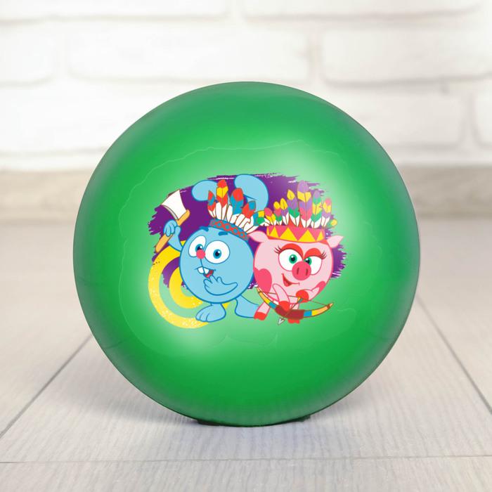 """Мяч детский СМЕШАРИКИ """"Крош и Нюша"""" 22 см, 60 гр, цвета зеленый"""