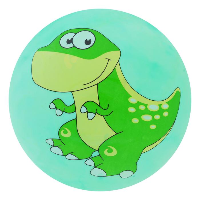 """Мяч детский """"Динозаврики"""", d=25 см, 60 г, цвет зелёный"""