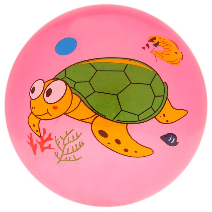 """Мяч детский """"Дельфинчики"""", d=25 см, 60 г, цвет розовый, принт МИКС"""