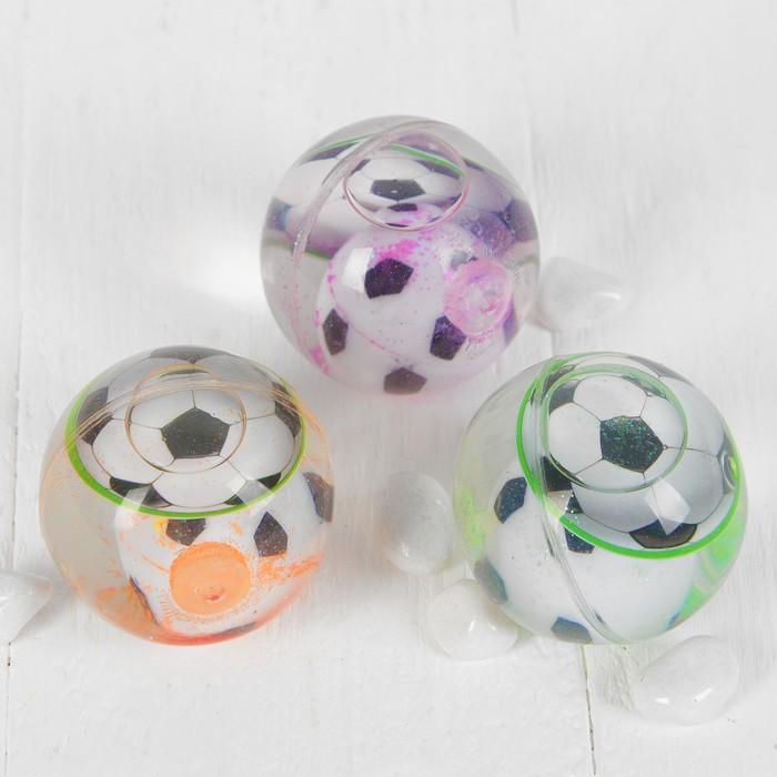 """Мяч световой """"Футбол"""" с водой 5,5 см, цвета МИКС"""