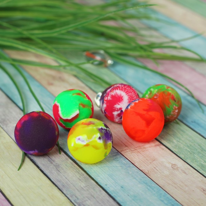 """Мяч каучук """"Перелив"""" 2,5 см, цвета МИКС"""