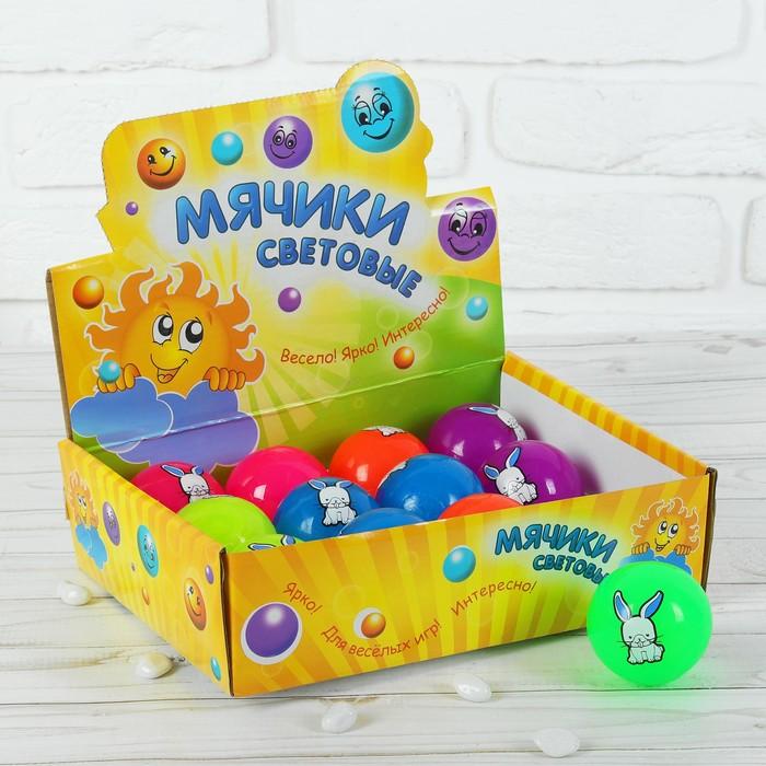 """Мяч световой """"Зайка"""" 5,5 см, цвета МИКС"""