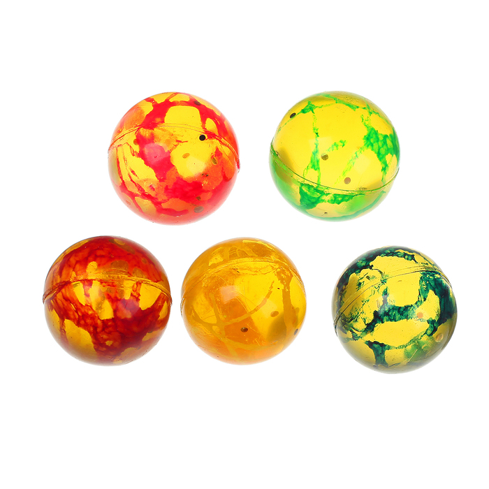 """Мяч каучук """"Блеск"""" 2,4 см, цвета МИКС"""
