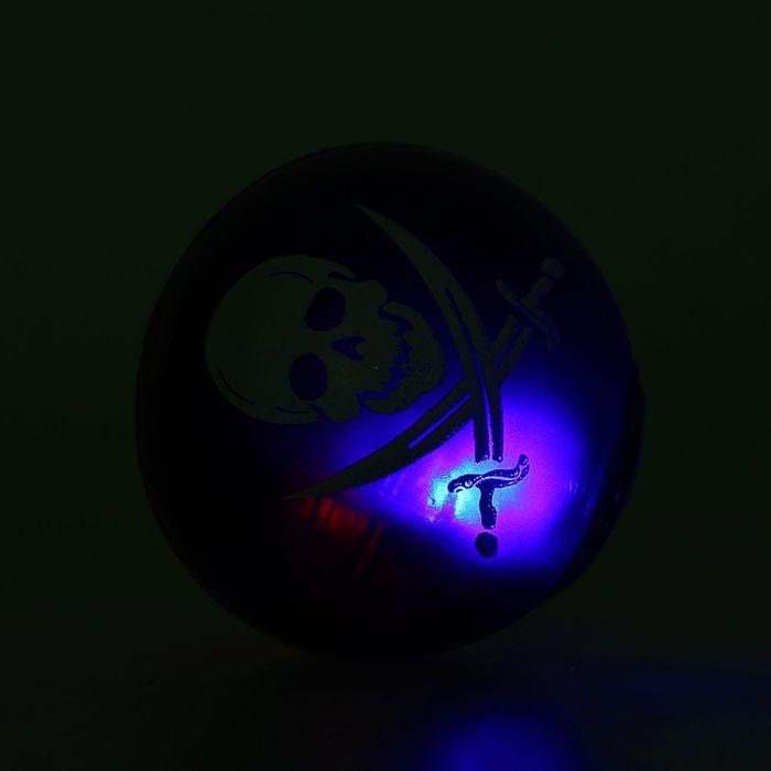 """Мяч световой """"Череп"""" 5.5 см, виды МИКС"""