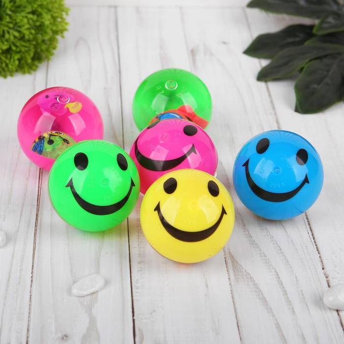 """Мяч световой """"Смайл"""" с водой, d=5,5 см, цвета МИКС"""