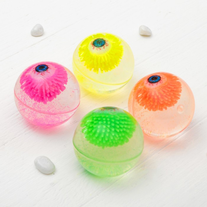 """Мяч световой """"Глазик"""" с водой 6,5 см, цвета МИКС"""