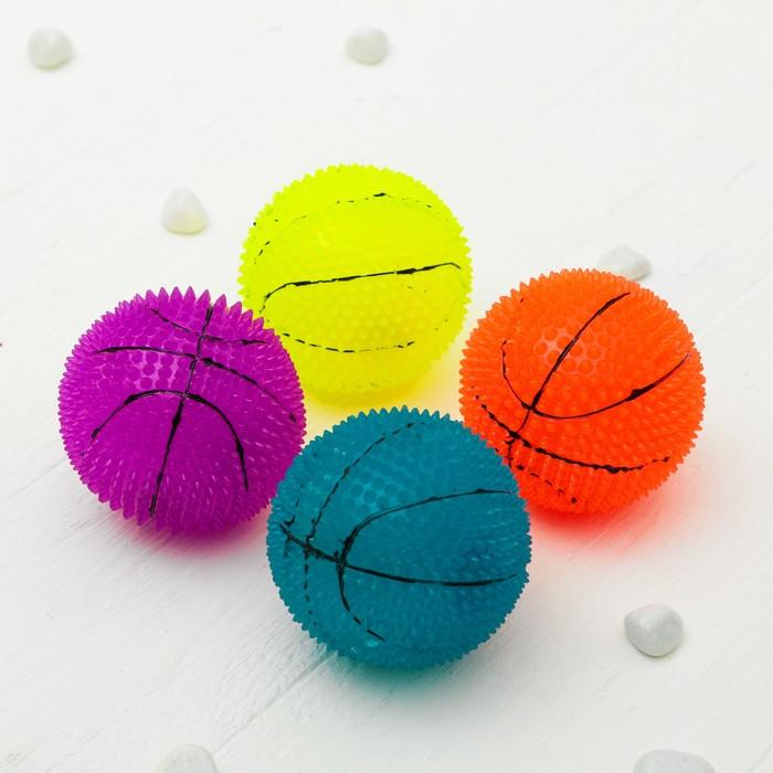 """Мяч световой """"Баскетбол"""" 6,5 см, цвета МИКС"""