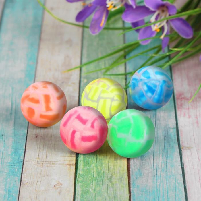 """Мяч каучук """"Трещины"""" 3,2 см, цвета МИКС"""
