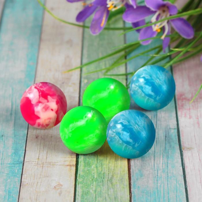 Мяч каучуковый пестрый, цвета МИКС