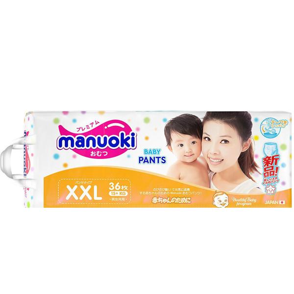 Подгузники-трусики Manuoki XXL36, 15+ кг, 36 шт