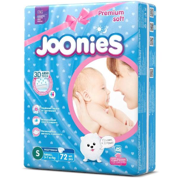 Подгузники Joonies S72 3-7 кг