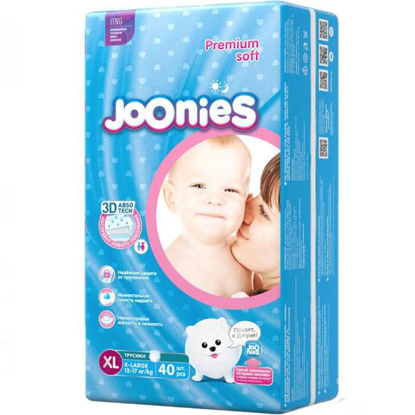 Подгузники-трусики  Joonies XL44 12-17 кг