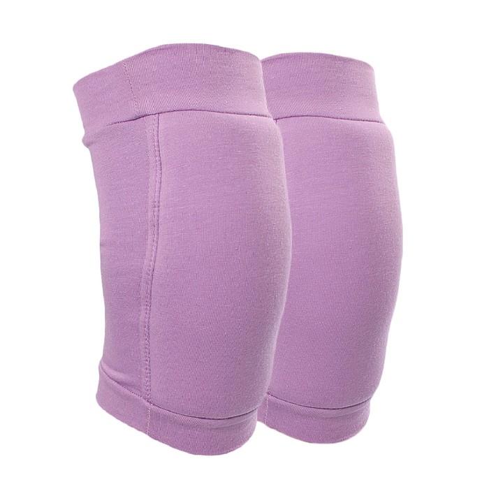 Наколенники для гимнастики и танцев с уплотнителем, размер S (7-10 лет), цвет сиреневый