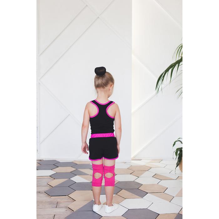 Наколенники для гимнастики и танцев с уплотнителем, размер M (11-14 лет), цвет фуксия