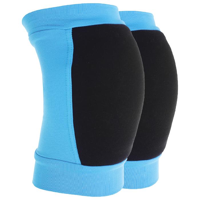 Наколенники для гимнастики и танцев (с уплотненной чашкой), размер XXS (3-5 лет), цвет бирюза/чёрный