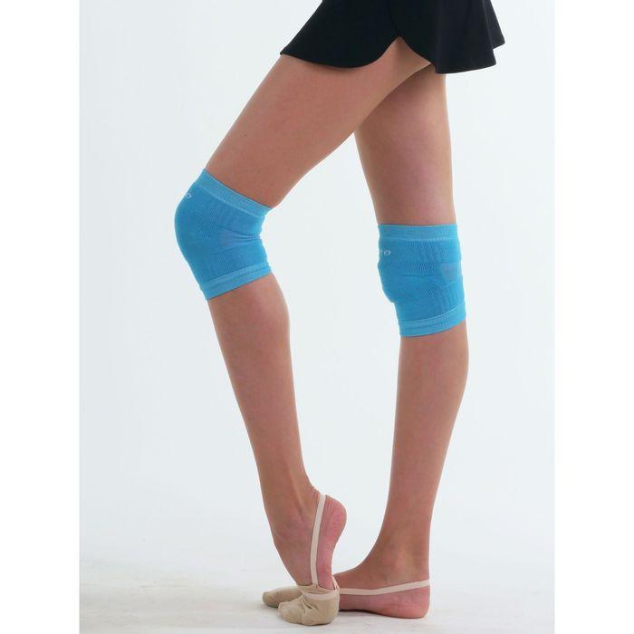 Наколенник гимнастический, размер XS, цвет голубой