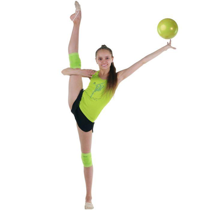 Наколенник гимнастический, размер XS, цвет салатовый