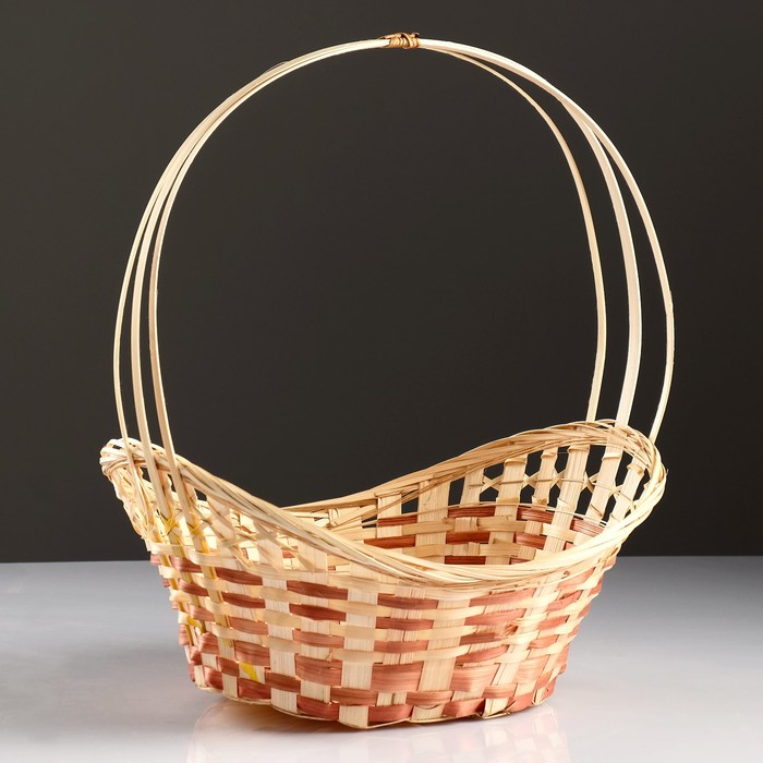 Корзина «Ладья», 36×27×13 см, бамбук