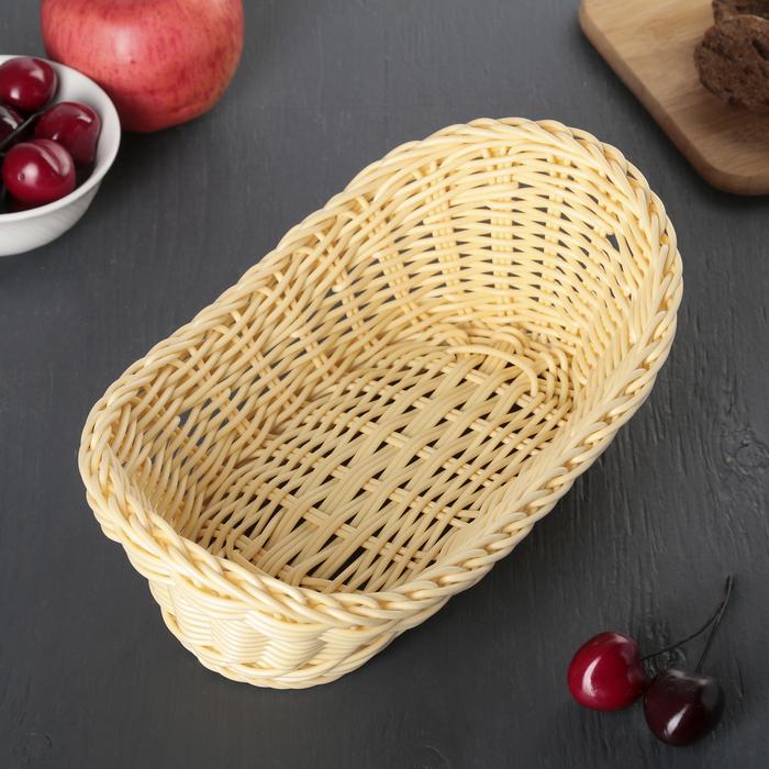 "Корзинка для фруктов и хлеба ""Ваниль"" 28х14х9 см"