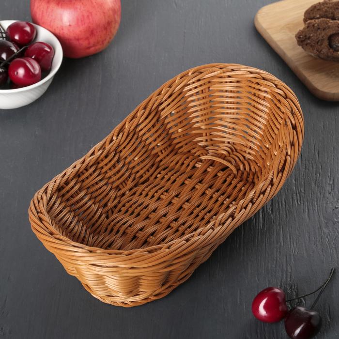 Корзинка для фруктов и хлеба, 28х14х9 см, цвет шоколадный