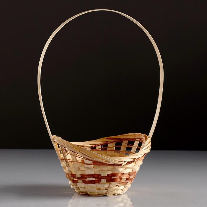 Корзина «Ладья», 18×16×6 см, бамбук