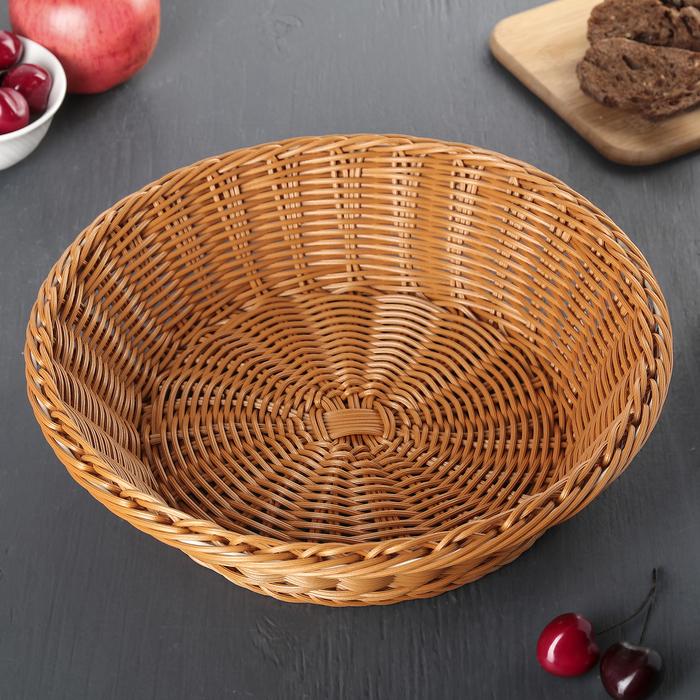Корзинка для фруктов и хлеба, 29х29х8 см, цвет шоколадный
