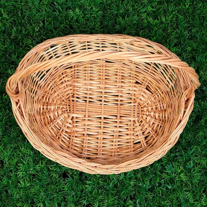 Корзина «Лексус», дно=26х18 см, верх= 35×28 см, H=7/10/35 см, ручное плетение, ива